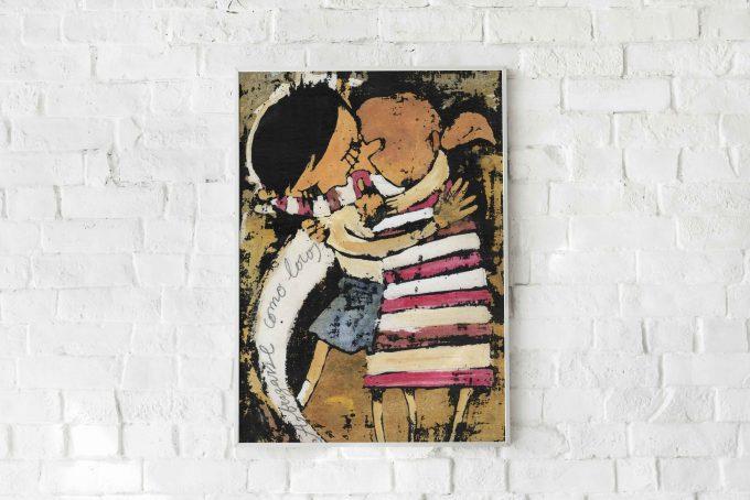 Abrazarse-como-locos ilustradora Cecilia Plaza