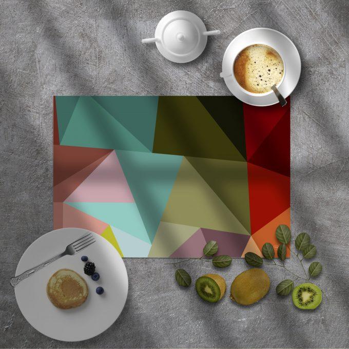 Mantel individual abstracto Cecilia