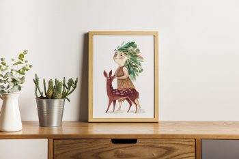 Bosque-Cervatillo ilustradora Cecilia Plaza