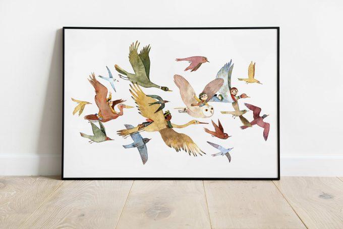 Cuento-Pájaros ilustradora Cecilia Plaza