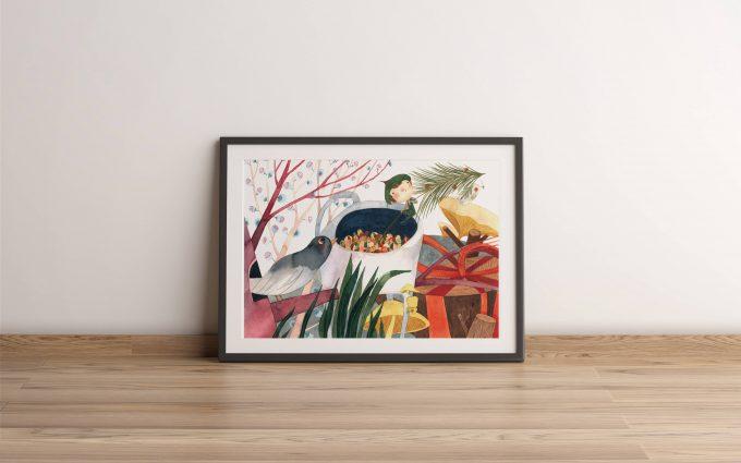 Duende-y-semillas ilustradora Cecilia