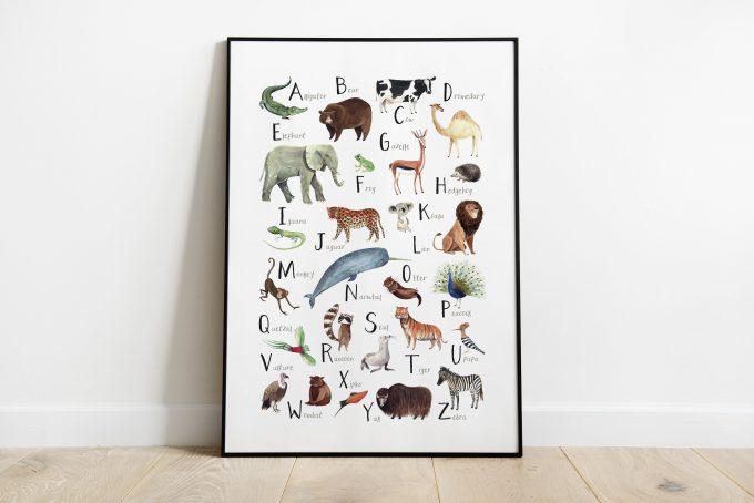 Animals-ABC-inglés ilustradora Cecilia Plaza