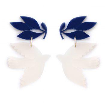 Pendiente Paloma Opal Azul
